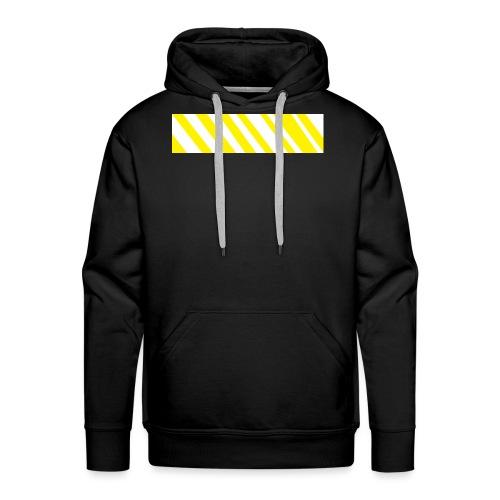 Gelbes Zebra - Männer Premium Hoodie