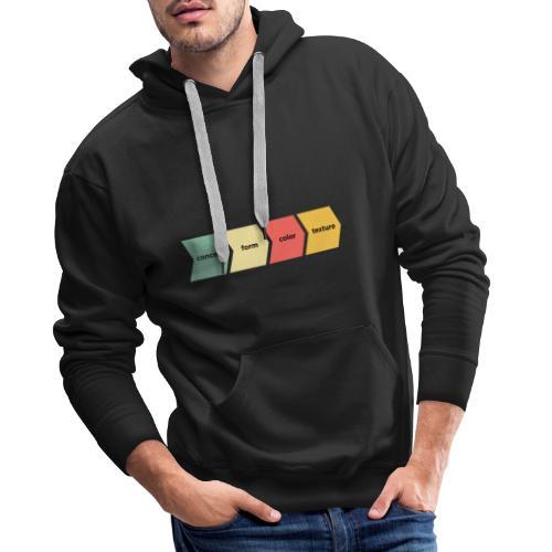 Concept Form Color Texture - Sweat-shirt à capuche Premium pour hommes