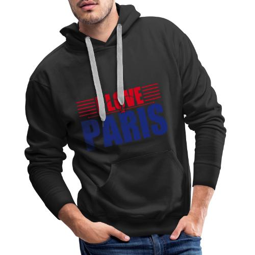 love paris - Sweat-shirt à capuche Premium pour hommes