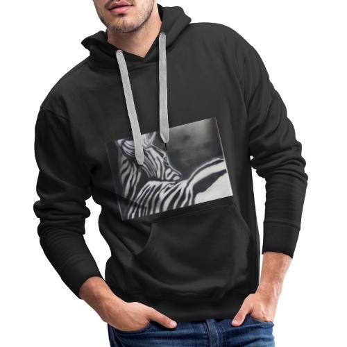 creation zebre fait main - Sweat-shirt à capuche Premium pour hommes