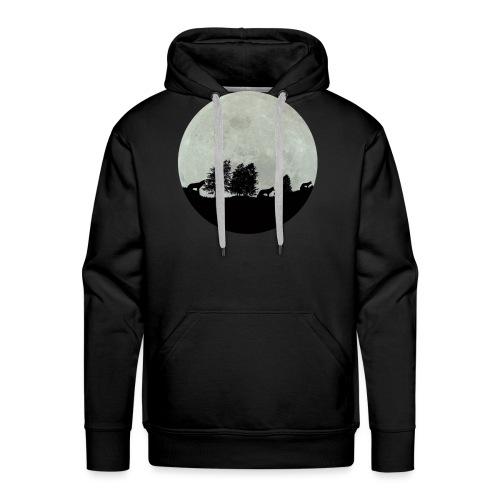 moon wolf - Sweat-shirt à capuche Premium pour hommes