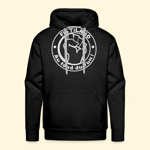 cercle FISTILAND blanc - Sweat-shirt à capuche Premium pour hommes