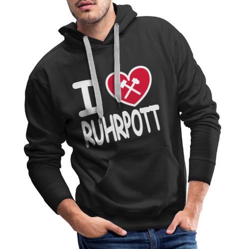 I ♥ RUHRPOTT mit Schlägel und Eisen - Männer Premium Hoodie