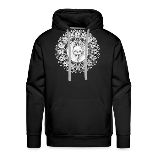 Mandala Skull - Sudadera con capucha premium para hombre