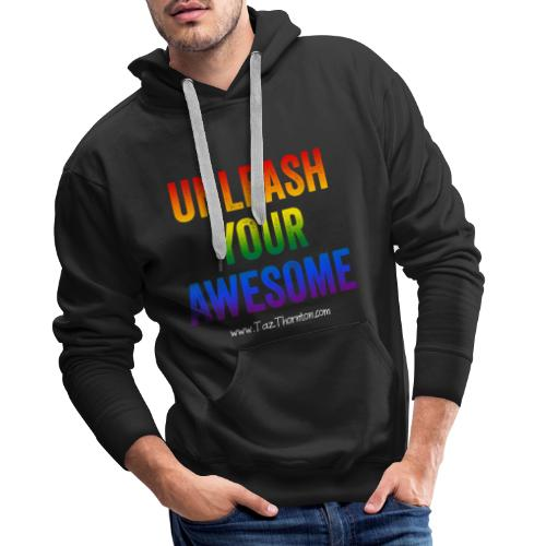 Rainbow Awesome - Pride range - Men's Premium Hoodie