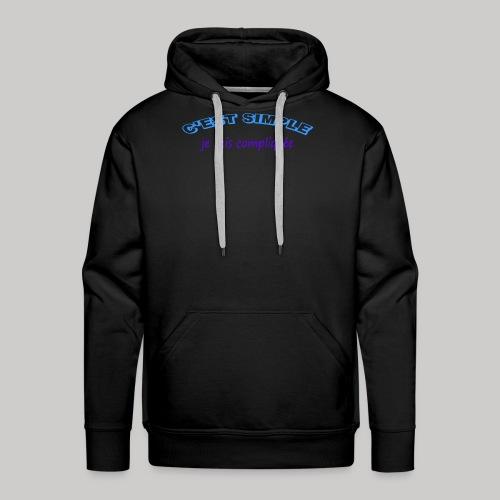 c est simple - Sweat-shirt à capuche Premium pour hommes