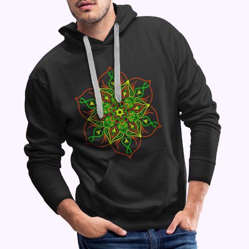 Flor de loto de fuego - Sudadera con capucha premium para hombre