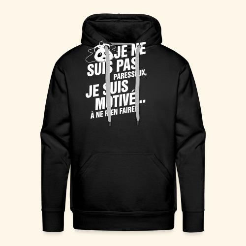 not lazy 2 - Sweat-shirt à capuche Premium pour hommes