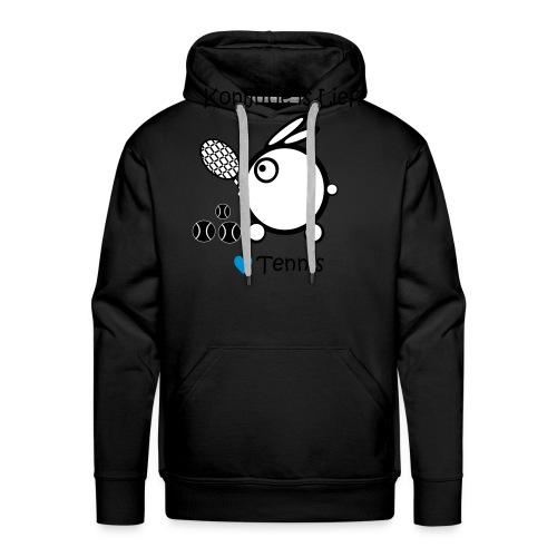 konijntje tennis 3 - Mannen Premium hoodie