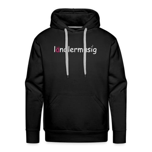 ländlermusig weiss/pink - Männer Premium Hoodie