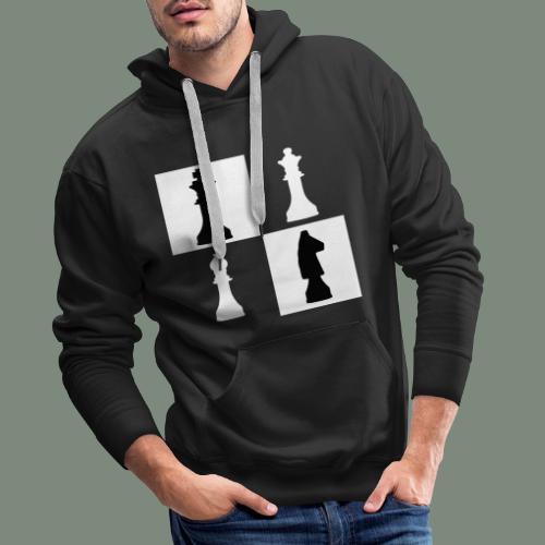 lustiges Schach Motiv Königin König Pferd Geschenk - Männer Premium Hoodie