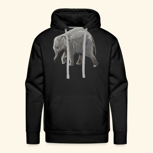 Baby elephant on a Mission - Men's Premium Hoodie