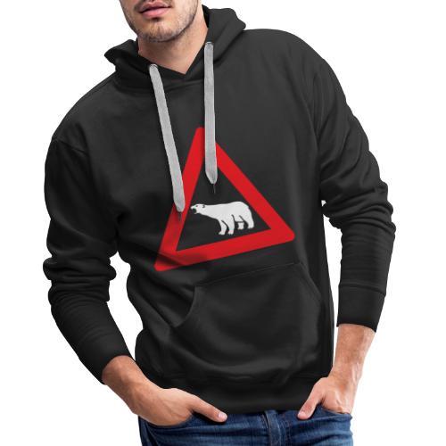 Isbjørn fareskilt (fra Det norske plagg) - Premium hettegenser for menn