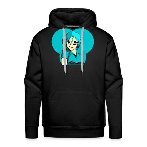 Chica azul 2 - Sudadera con capucha premium para hombre