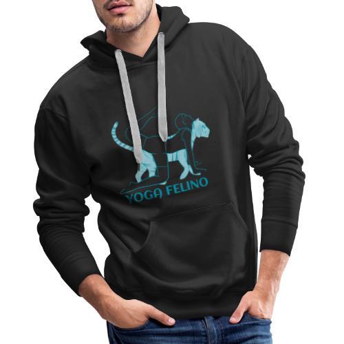t shirt design YOGA FELINO - Felpa con cappuccio premium da uomo