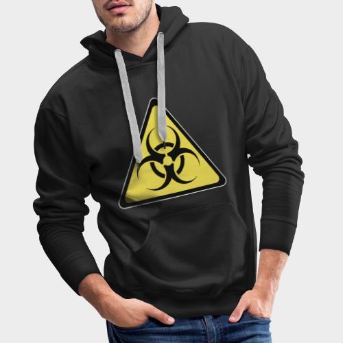 SEÑAL BIOHAZARD - Sudadera con capucha premium para hombre