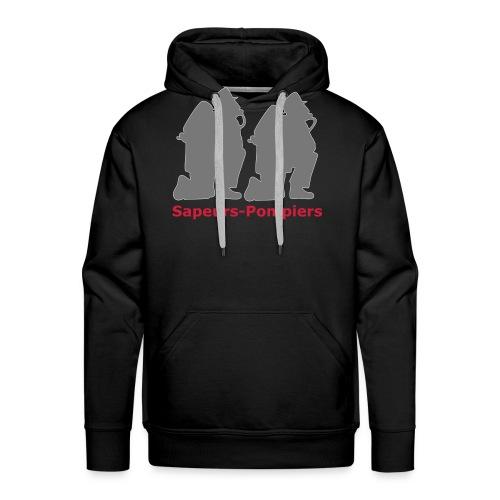 Sapeurs-pompiers - Sweat-shirt à capuche Premium pour hommes