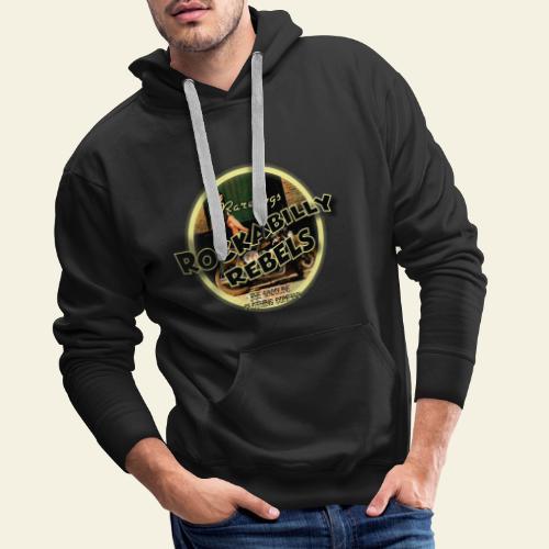 rockabilly rebels pinup - Herre Premium hættetrøje