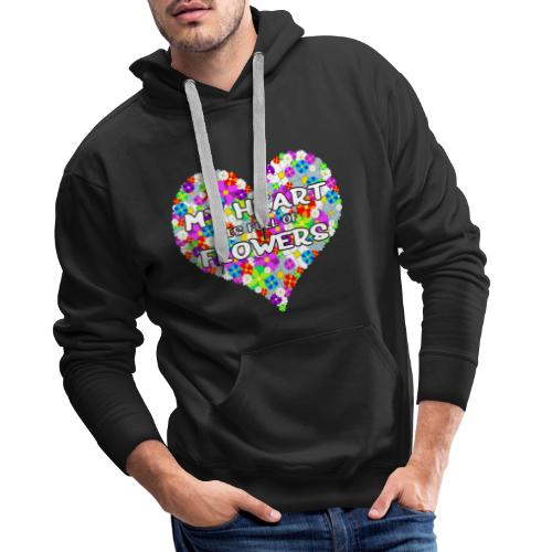 My Heart is full of Flowers - Männer Premium Hoodie