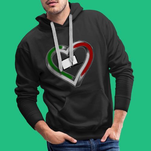 heartleg - Sweat-shirt à capuche Premium pour hommes