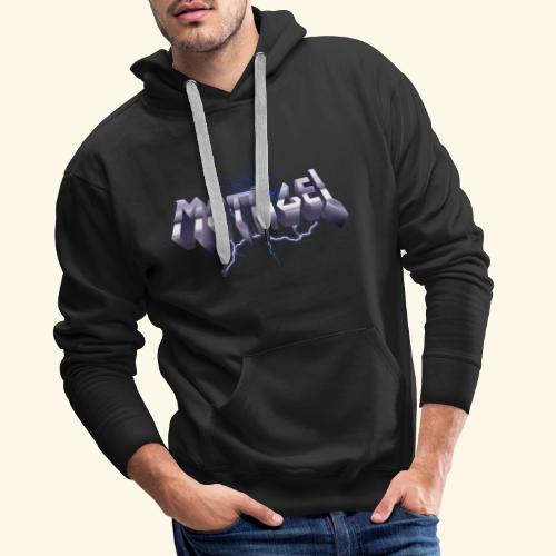 Mettigel T Shirt Design Heavy Metal Schriftzug - Männer Premium Hoodie