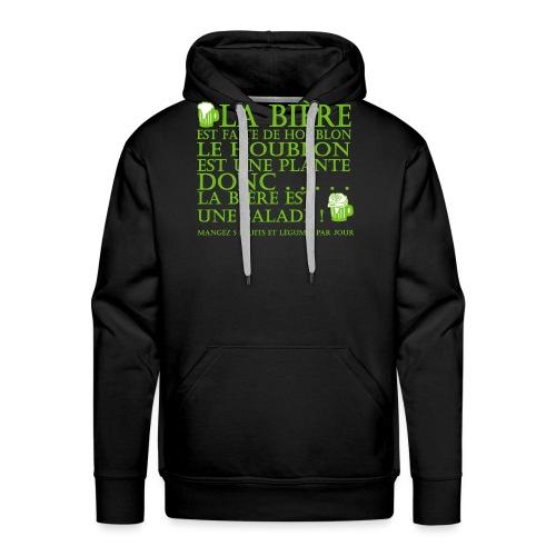 la bière est ... une salade ! - Sweat-shirt à capuche Premium pour hommes
