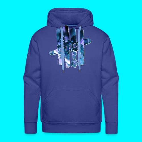 FIVES space flowers - Sweat-shirt à capuche Premium pour hommes