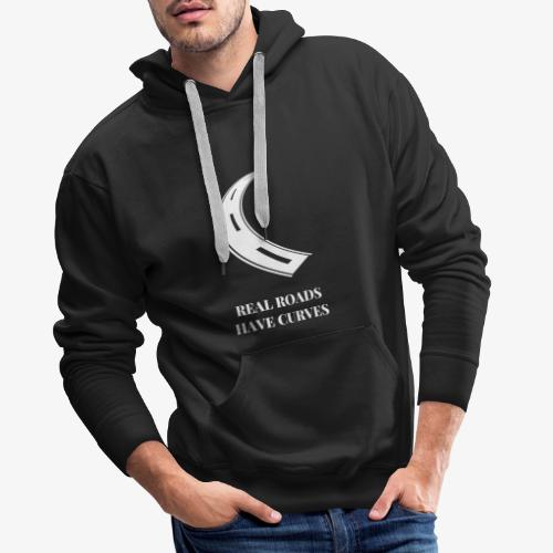 Real roads have curves - Motorcycling Shirt - Männer Premium Hoodie