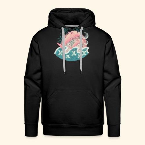 Dauphins rose - Sweat-shirt à capuche Premium pour hommes