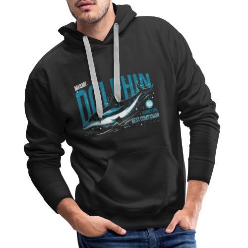 Miami Dolphin - Sweat-shirt à capuche Premium pour hommes
