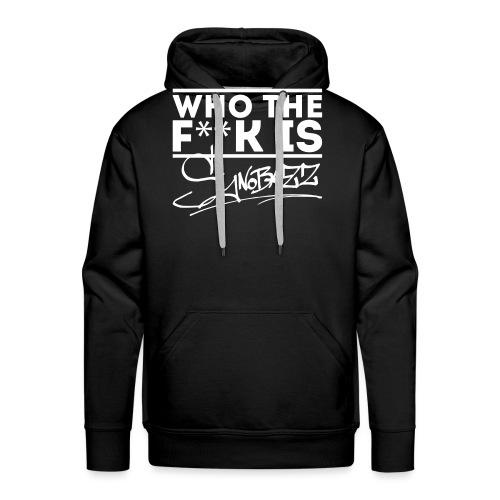 who the fuck is synobazz - Männer Premium Hoodie