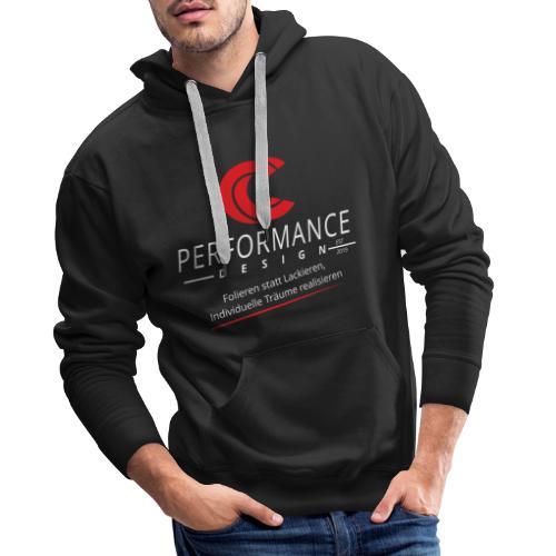 hoch weiss slogan - Männer Premium Hoodie