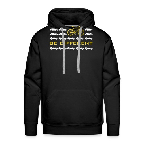 be different Auto Fahrrad Bike car anders einzig - Men's Premium Hoodie