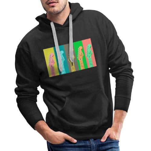 Colorful Guitar Gathering by #OneCreativeArts - Männer Premium Hoodie