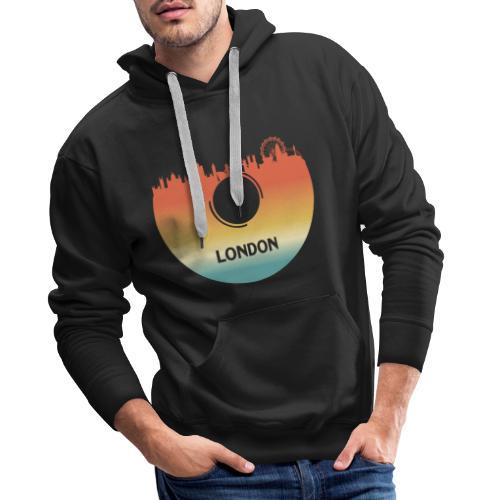 London Skyline Vinyl Schallplatte London Souvenir - Männer Premium Hoodie