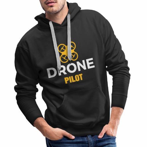 Logo Drone Pilot 5 klein - Mannen Premium hoodie