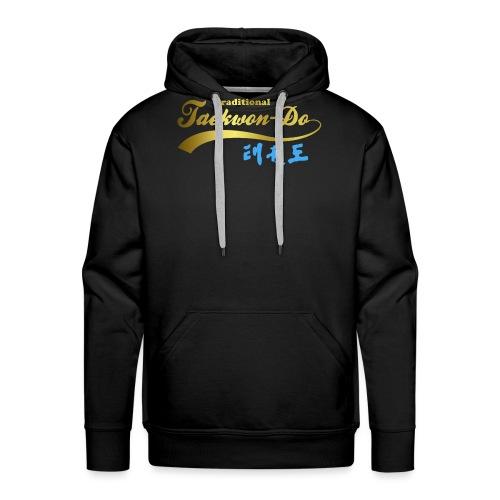 Aufdruck shirt blau gold ohne25 - Männer Premium Hoodie