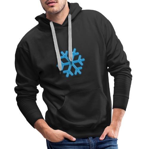 Snowflake - Felpa con cappuccio premium da uomo