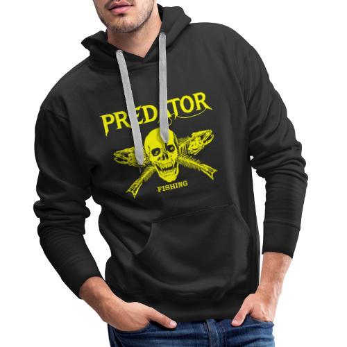 Predator fishing yellow - Männer Premium Hoodie