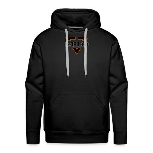 logo melo blanc - orange - Sweat-shirt à capuche Premium pour hommes
