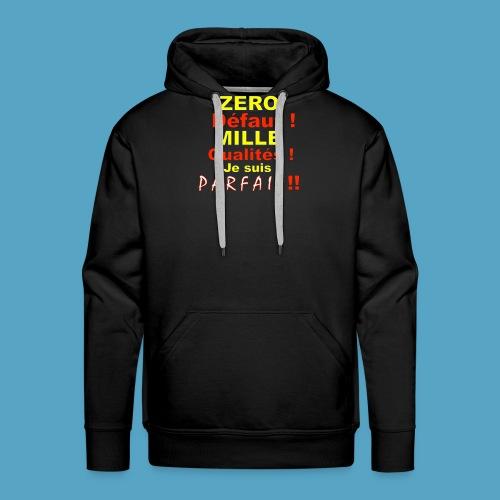 ZERO DEF PHOT .png - Sweat-shirt à capuche Premium pour hommes