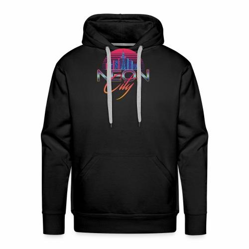 Neon City Retro Wave - 80's Aesthethics - Mannen Premium hoodie