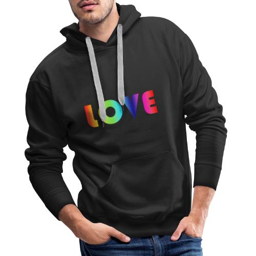 Rainbow Love - Mannen Premium hoodie