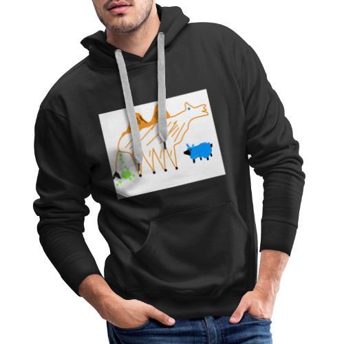 T-Shirt - The Carmel and the blue sheep - Männer Premium Hoodie