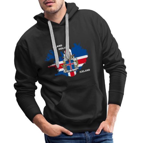 Island Iceland Holiday Urlaub - Männer Premium Hoodie