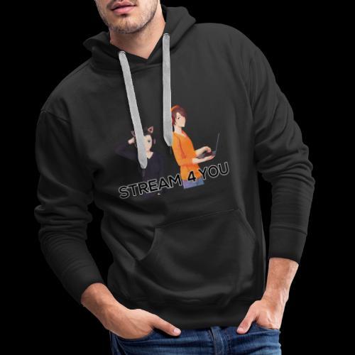 Logo2 0Black 1 - Männer Premium Hoodie