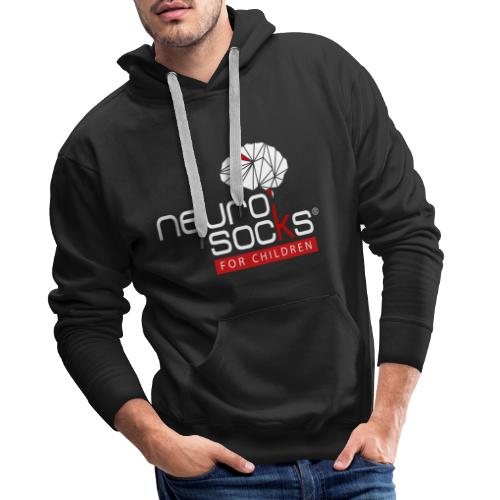NeuroSocks for Children | Weiß-Rot - Männer Premium Hoodie