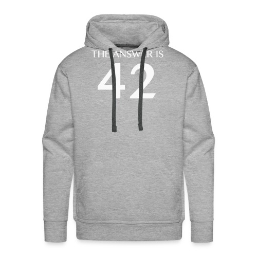 The Answer is 42 White - Men's Premium Hoodie