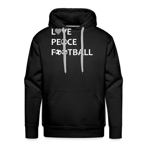 Football Shirt Love Peace Football black - Men's Premium Hoodie