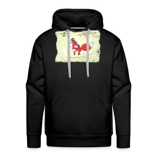 Hopsender Fuchs im Schnee - Männer Premium Hoodie
